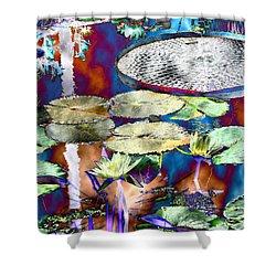 Strange Daze Shower Curtain by Bobbie Barth