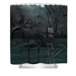 Strange Eyedea Shower Curtain by Kristie  Bonnewell