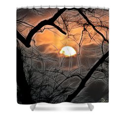 Shower Curtain featuring the photograph Strange Morning by EricaMaxine  Price