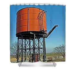 Strasburg Water Tower Shower Curtain by Skip Willits