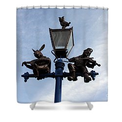 Stratford's Jewish Lamp Post Shower Curtain by Terri Waters