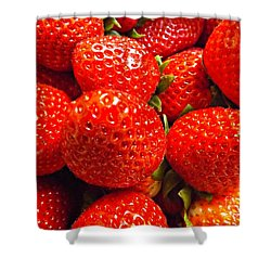Strawberries Shower Curtain by Clare Bevan