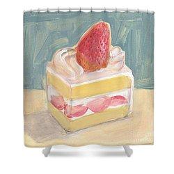 Strawberry Cake Shower Curtain