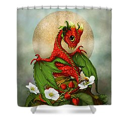 Strawberry Dragon Shower Curtain