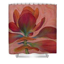 Shower Curtain featuring the painting Strawberry Flapjack by Sandi Whetzel