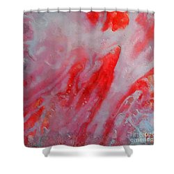 Shower Curtain featuring the painting Strawberry Ice Cream by Dragica  Micki Fortuna