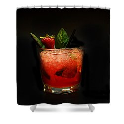 Strawberry Mojito Shower Curtain