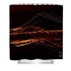 Streaks Across The Bridge Shower Curtain