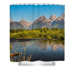 Stream At The Tetons Shower Curtain by Robert Bynum