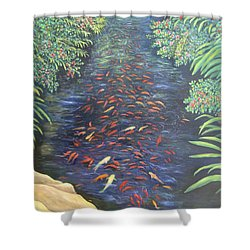 Stream Of Koi Shower Curtain