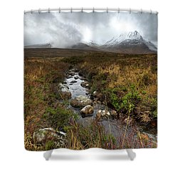 Stream On Rannoch Moor  Shower Curtain by Gary Eason