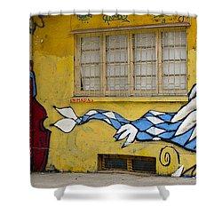 Street Art Valparaiso Chile 12 Shower Curtain by Kurt Van Wagner