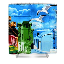 Street Art Valparaiso Chile 15 Shower Curtain by Kurt Van Wagner