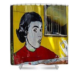 Street Art Valparaiso Chile 7 Shower Curtain by Kurt Van Wagner