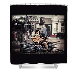Shower Curtain featuring the photograph Street Beats Inspiration by Melanie Lankford Photography