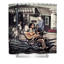 Street Beats Shower Curtain by Melanie Lankford Photography