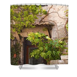 Street Entrance Shower Curtain by Bob Phillips
