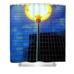 Street Halo Shower Curtain