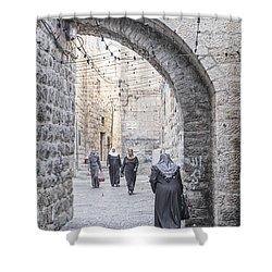 Street In Jerusalem Old Town Israel Shower Curtain