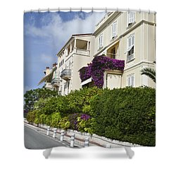 Shower Curtain featuring the photograph Street In Monaco by Allen Sheffield