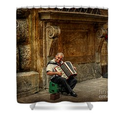 Street  Music Shower Curtain by Valerie Reeves