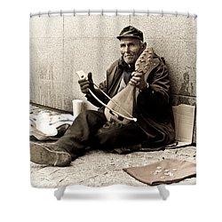 Street Musician Shower Curtain
