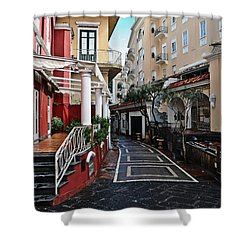 Street Of Capri Shower Curtain