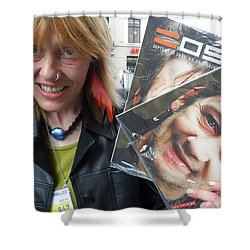 Shower Curtain featuring the photograph Street People - A Touch Of Humanity 6 by Teo SITCHET-KANDA