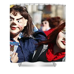 Street Performers Shower Curtain