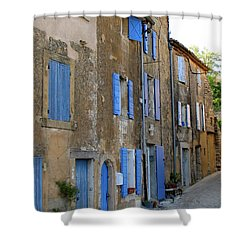 Street Scene In Provence Shower Curtain by Carla Parris