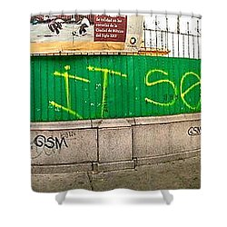 Street Scene - Mexico City Shower Curtain by Sean Griffin