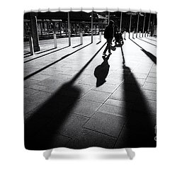 Street Shadow Shower Curtain