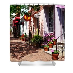 Alexandria Va - Street With Art Gallery And Tobacconist Shower Curtain