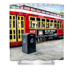 Streetcar On Canal Street Nola Shower Curtain by Kathleen K Parker