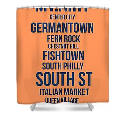 Streets Of Philadelphia 4 Shower Curtain