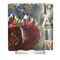 Striking Pain Shower Curtain