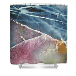 String Theory - Wave Shower Curtain by Carrie Maurer