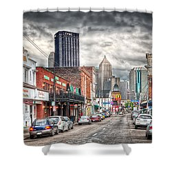 Strip District Pittsburgh Shower Curtain