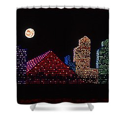 Strip Series - City Shower Curtain