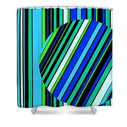 Striped Circle  C2014 Shower Curtain
