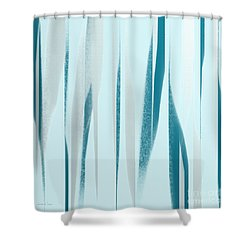 Stripes 9 Abstract Square Shower Curtain by Andee Design