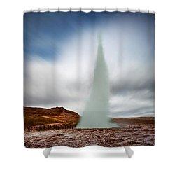 Strokkur Shower Curtain