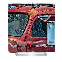 Shower Curtain featuring the photograph Strong City Red by Steven Bateson