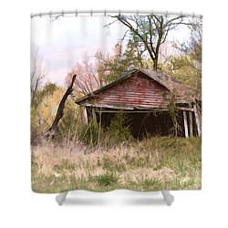 Strong Enough Shower Curtain by Bonnie Willis