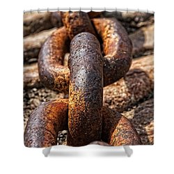 Shower Curtain featuring the photograph Strong Links by Dave Files