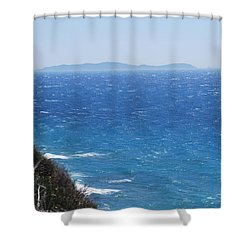Shower Curtain featuring the photograph Strong Mistral by George Katechis