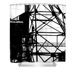 Structure 3 Shower Curtain