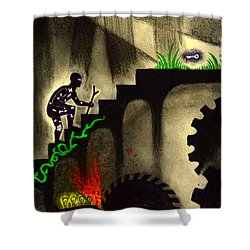 Life's Struggle Shower Curtain