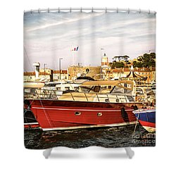 St.tropez Harbor Shower Curtain by Elena Elisseeva