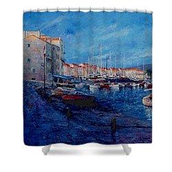 St.tropez  - Port -   France Shower Curtain by Miroslav Stojkovic - Miro